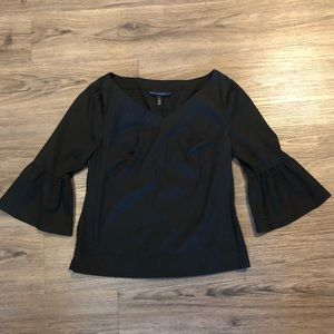 White House Black Market Flare Sleeve Top